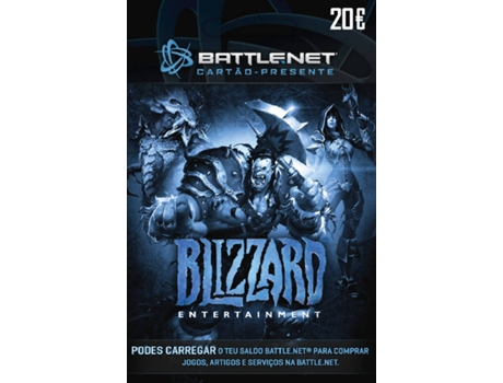Cartão Blizzard Battle.Net - 20 Euros — PC
