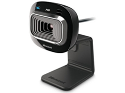 Webcam MICROSOFT LifeCam HD-3000 (HD - 1 MP - Microfone Incorporado) — 1 MP | C/ microfone