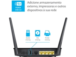 Router ASUS RT-AC51U (AC750 - 300 + 433 Mbps) — Dual Band | 750 Mbps
