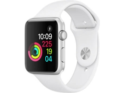 Apple Watch APPLE Series 1 42 mm Prateado, Branco — Bluetooth 4.0 e Wi-fi | 205 mAh | iOS