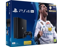Consola PS4 Pro Black + Jogo FIFA 18 — PS4 1TB + FIFA 18