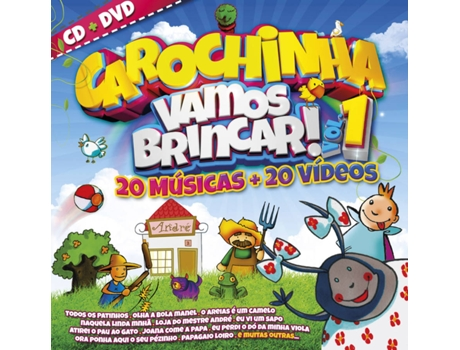 CD+DVD Carochinha - Vamos Brincar Vol. 1 — Infantil