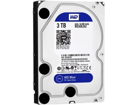 Disco Interno 3.5'' WESTERN DIGITAL 3TB Caviar Blue WD30EZRZ — 3.5'' | 3 TB | SATA3 6 Gb/s