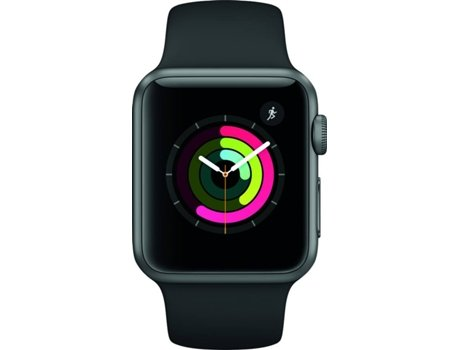 Apple Watch APPLE Series 1 38 mm Preto, Cinza — Bluetooth 4.0 e Wi-fi | 205 mAh | iOS
