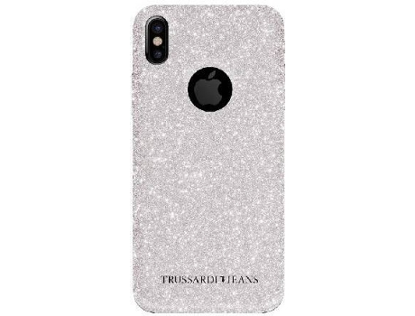 Capa TRUSSARDI Glitter Total iPhone 6, 6s, 7, 8 Prateado — Compatibilidade: iPhone 6, 6s, 7, 8