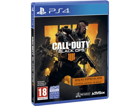 Jogo PS4 Call of Duty Black Ops 4 (Specialist Edition) — FPS | Idade Mínima Recomendada: 18