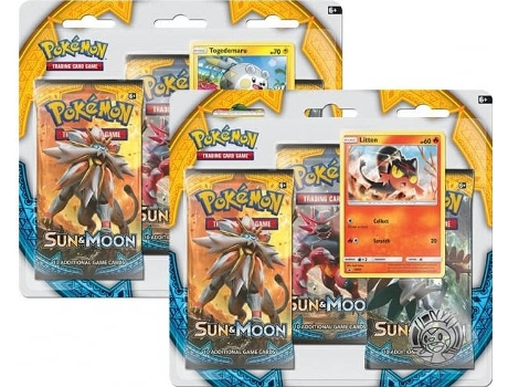 Pack Cartas Pokémon Sun & Moon Booster Blister (3) — 3 Packs