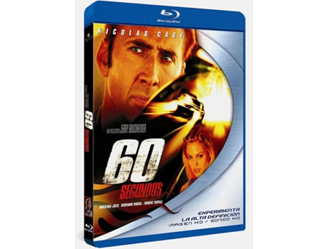 Blu-Ray 60 Segundos — De: Dominic Sena | Com: Nicolas Cage,Giovanni Ribisi,Angelina Jolie,T.J. Cross,William Lee Scott