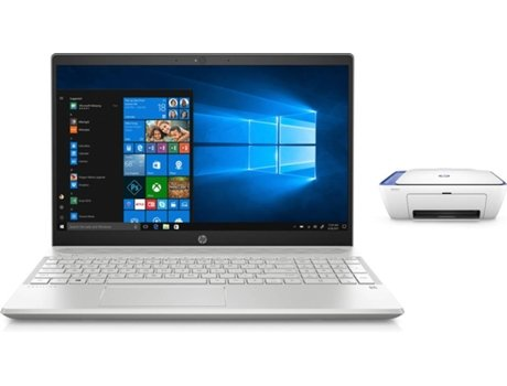 Pack Portátil HP Pavilion 15-CS1008NP (15.6'' - Intel Core i7-8565U - RAM: 8 GB - 128 GB SSD - NVIDIA GeForce MX 150) + Impressora HP DeskJet 2630 — Windows 10 Home | Full HD