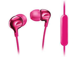 Auriculares PHILIPS SHE3705PK/00 —  16Ohm / 105dB / Microfone incorporado