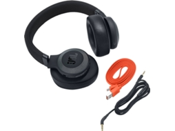Auscultadores Bluetooth JBL E 65 BT NC (Over Ear - Microfone - Noise Canceling - Preto) — Over Ear | Microfone | Noise Cancelling | Atende chamadas