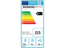 Frigorífico SIEMENS iSensoric KD33VVW30 — A++ | Low Frost | Refr. 230 L Cong. 70 L