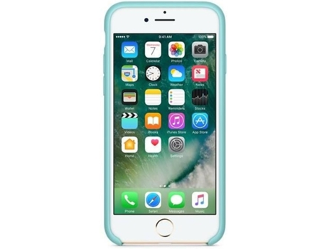 Capa APPLE Silicone iPhone 7 Sea Blue — Compatibilidade: iPhone 7
