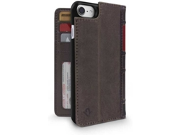 Capa TWELVE SOUTH Bookbook iPhone 7, 8 Castanho — Compatibilidade: iPhone 7, 8