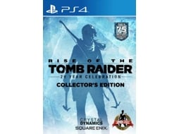 Jogo PS4 Rise Of The Tomb Raider - 20 Year Celebration (Collector's Edition) — Ação/Aventura / Idade mínima recomendada: 18
