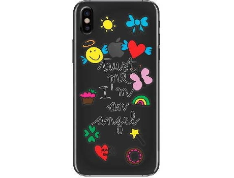 Capa SILVIA TOSI Stickers Angel iPhone 6, 6s, 7, 8 — Compatibilidade: iPhone 6, 6s, 7, 8