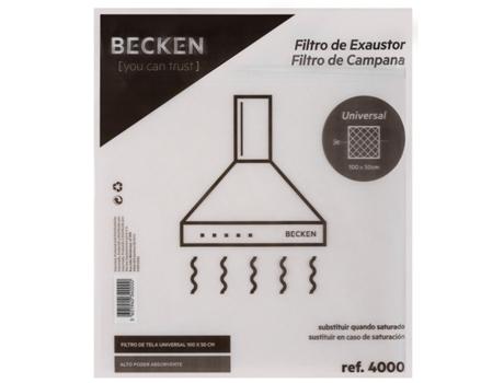 Filtro de Exaustor BECKEN Ref.4000 - 100x50 | [4551989 ]