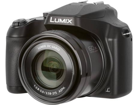ad09b73ae75ce Máquina Fotográfica Bridge PANASONIC Lumix DC-FZ82EG-K (Preto - 18.1 MP -  ISO  80-6400 - Zoom Ótico  60x)