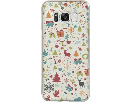 Capa SBS Christmas Collection Samsung Galaxy S8+ Multicor — Compatibilidade: Samsung Galaxy S8+
