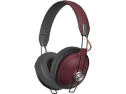 Auscultadores Bluetooth PANASONIC Retro RP-HTX80BE (Over Ear - Microfone - Vermelho) — Over Ear | Microfone | Atende chamadas