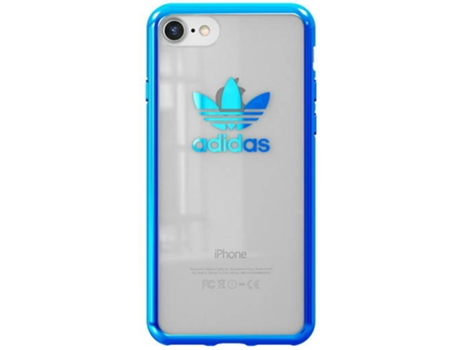 Capa ADIDAS Seethrough iPhone 7 Logo Blue — Compatibilidade: iPhone 7