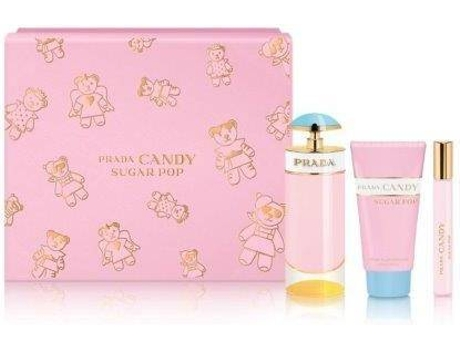 Coffret PRADA Perfume Candy Sugar Pop 80ml 2.7fl.oz + Roll-On 10ml 0.34fl.oz + Body Lotion 75ml 2.5fl.oz (Eau de Parfum)