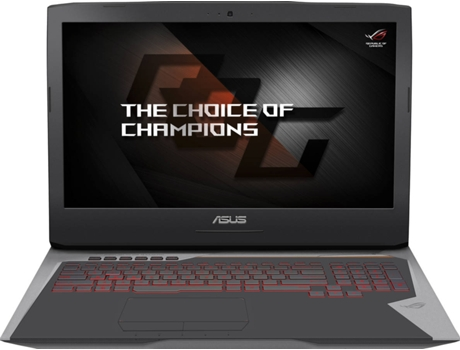 Portátil Gaming 17.3'' ASUS G752VSK-77A07PB1 — Intel Core i7-7700HQ / 32 GB / 1 TB + 500 GB