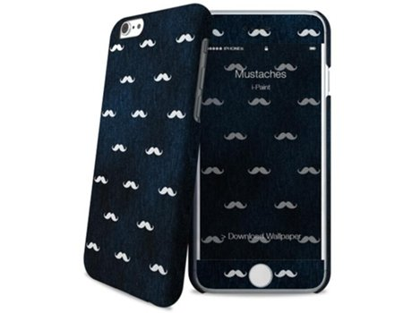Capa I-PAINT Mustaches iPhone 6 e 6s — Mustaches