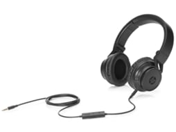 Microauscultador HP H3100 Wired Headphone Black — Com Fios