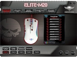 Rato SPIRIT OF GAMER ELITE M20 Preto — Com Fio