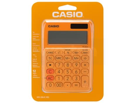 Calculadora Casio MS-20UC-RG Laranja | [6595733 ]