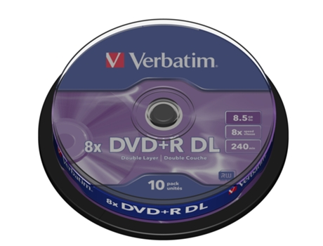 DVD+R VERBATIM 8.5GB Doble Layer Cake 10
