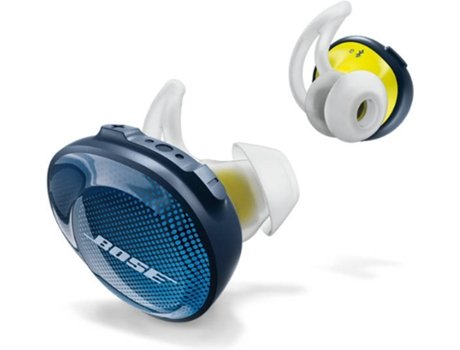 Auriculares Bluetooth True Wireless BOSE SoundSport Free (In Ear - Microfone - Azul) — In Ear | Microfone | Atende chamadas