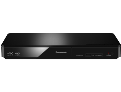 Leitor Blu-Ray PANASONIC DMP-BDT180EG — 3D / Smart TV / USB