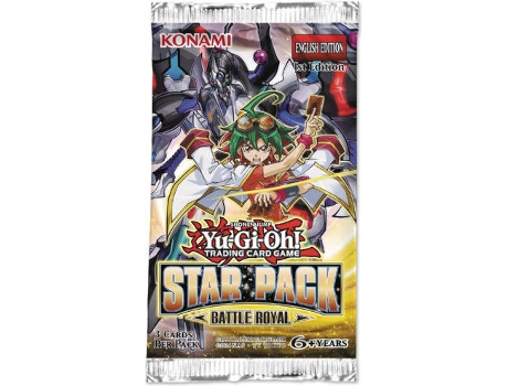 Pack Cartas Yu-Gi-Oh Star Pack Battle Royal Blister — 3 cartas por Pack