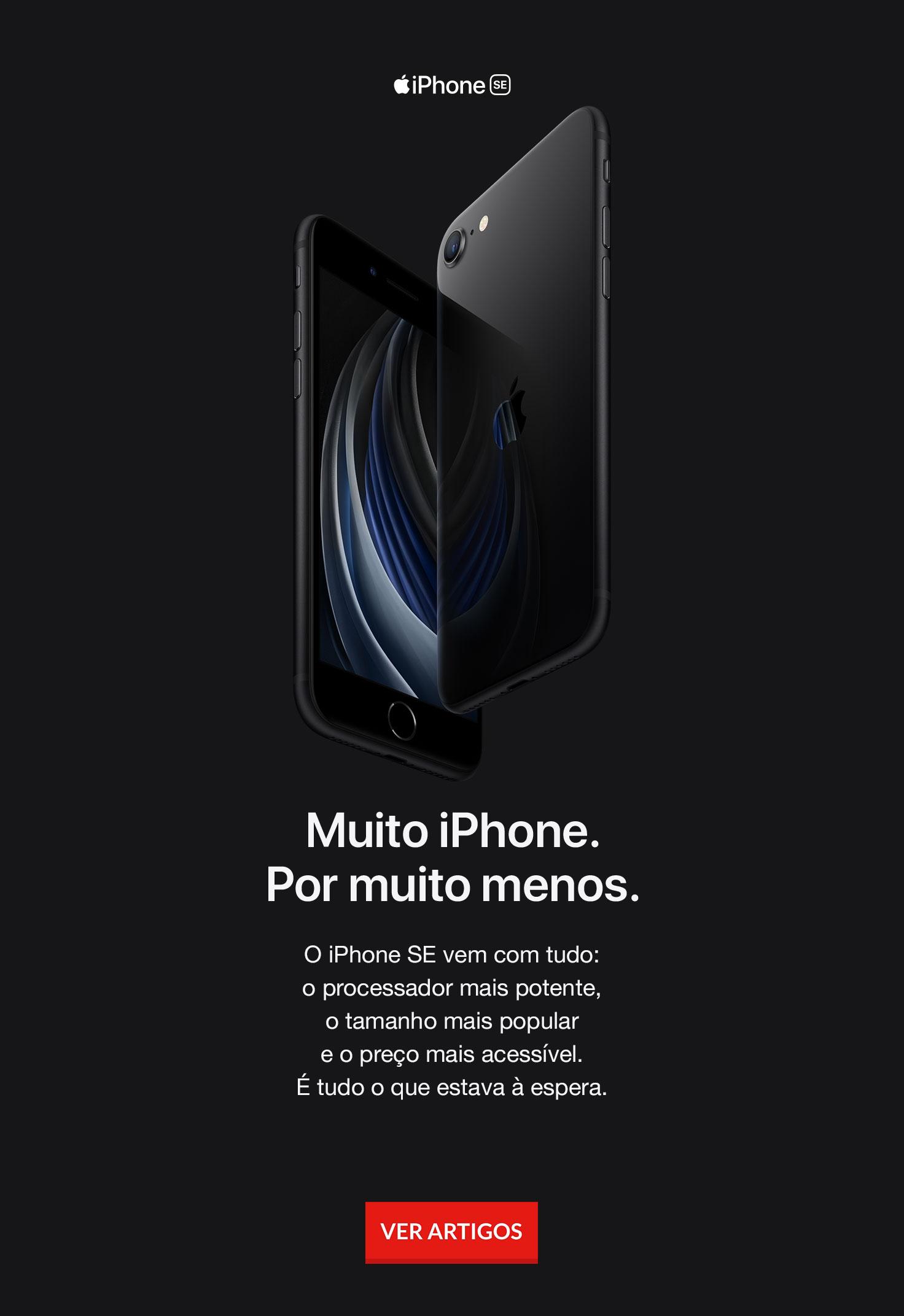 iPhone SE em preto