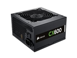 Fonte de Alimentação CORSAIR 600W Builder Series CX 80 Bronze — ATX | 500 W | EPS, PCI-E, 4 PIN