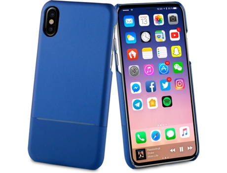 Capa MUVIT Dobre Skin iPhone X Azul — Compatibilidade: iPhone X