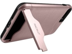Capa MACALLY Stand/Card iPhone7 Plus Rose — Compatibilidade: iPhone 7 Plus