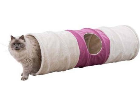 TRIXIE - Túnel para Gatos TRIXIE XXL Bege (Pelúcia)
