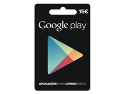 Cartão Googleplay - 15 euros — Google Play
