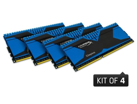 Memória RAM DDR3 KINGSTON HyperX Predator 4x4 GB (1866 MHz - CL 9 - Azul) — 4 x 4 GB | 1866 MHz | DDR3
