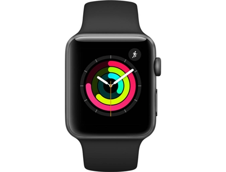 Apple Watch APPLE Series 3 GPS 42 mm Cinzento, Preto — Bluetooth 4.2 e Wi-fi | 279 mAh | iOS