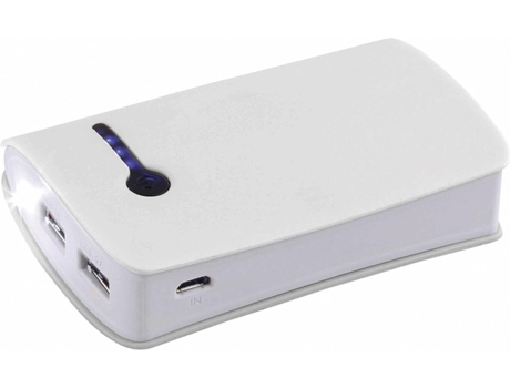 Powerbank CLIPSONIC TEA132W (6600 mAh - 2 USB - 1 Micro-USB - Branco) — 6600mAh