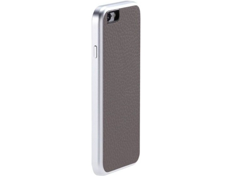 Capa JUST MOBILE AluFr Leather iPhone 6, 6s Cinzento — Compatibilidade: iPhone 6, 6s