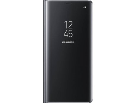 Capa SAMSUNG Clear View Samsung Galaxy Note 8 Preto — Compatibilidade: Samsung Galaxy Note 8
