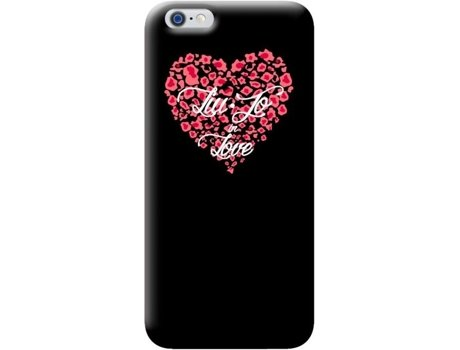Capa LIU.JO Hard Heart iPhone 6/6S Preto — Capa / iPhone 6/6S