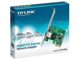 Adaptador Wireless TP-LINK Gigabit PCI-E Netwo TG-3468 — Adaptador PCI | 1000 Mbps