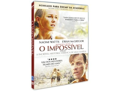 DVD O Impossível — De: Juan Antonio Bayona | Com: Naomi Watts, Ewan McGregor, Tom Holland