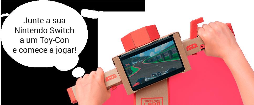Junte a sua Nintendo Switch a um Toy-Con e comece a jogar!